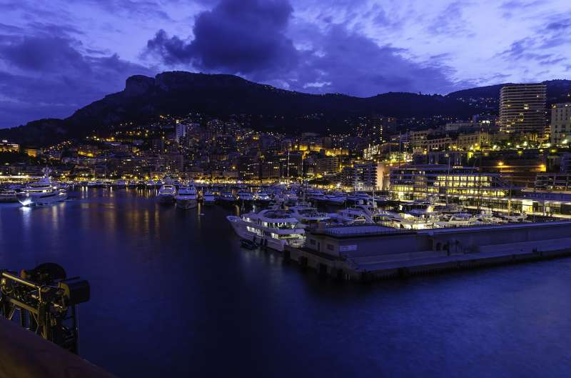 Yachtbay from Monaco at night