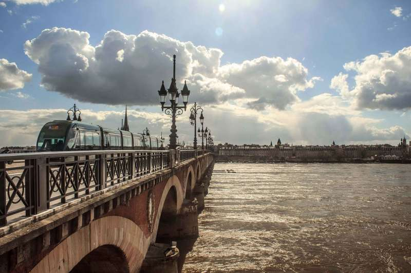 The Aquitaine Bridge of Bordeaux