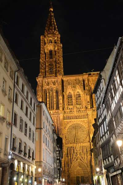 The red cathedral of Strasbourg