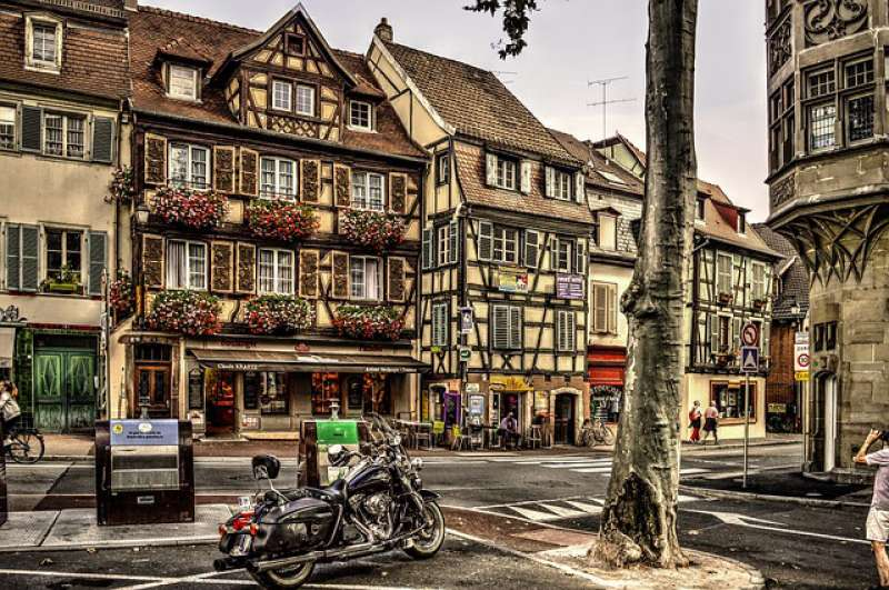 The half-timbered houses of Colmar