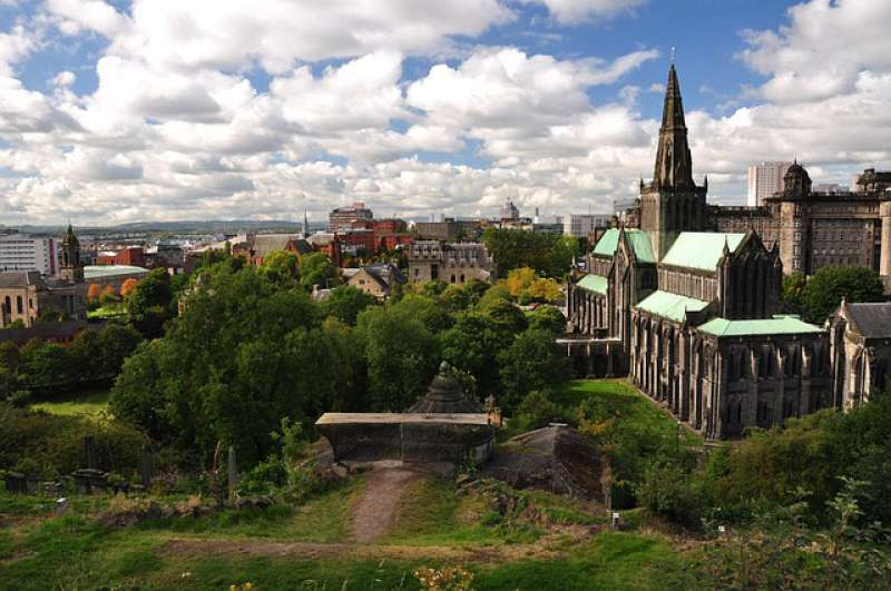 A view of the Glasgow Cathedral