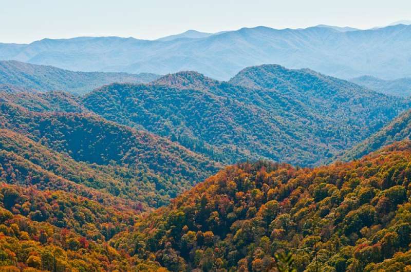 A view of the Great Smoky Mountains National Park