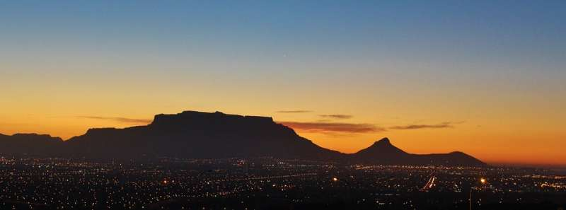 Capetown at sunset