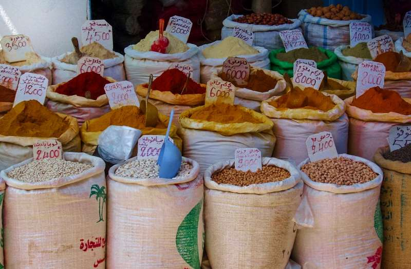 Market Spices in Morocco